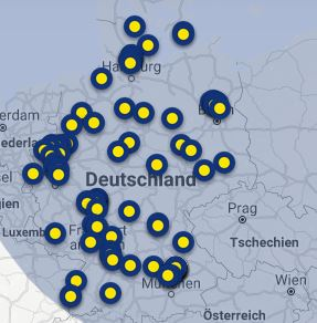 ING: Geld einzahlen: Kostenlos möglich bei allen 100 Reisebanken in Deutschland. Bildquelle: Screenshot der Reisebank Standortsuche