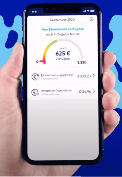 Die o2 Money App macht einen aufgeräumten Eindruck