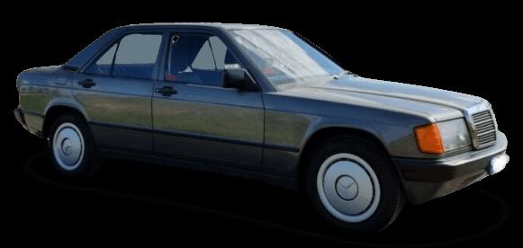 Wieviel Geld für ein Auto ausgeben? Der Mercedes-Benz 190 E (1990) ist für 8.000 Euro zu haben und passend für Monatseinkommen ab etwa 2.200 €